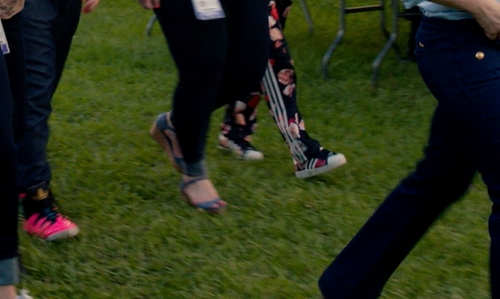 Hana Mae Lee with Adidas Originals Superstar II Womens Sneakers Rose in Pitch Perfect 2