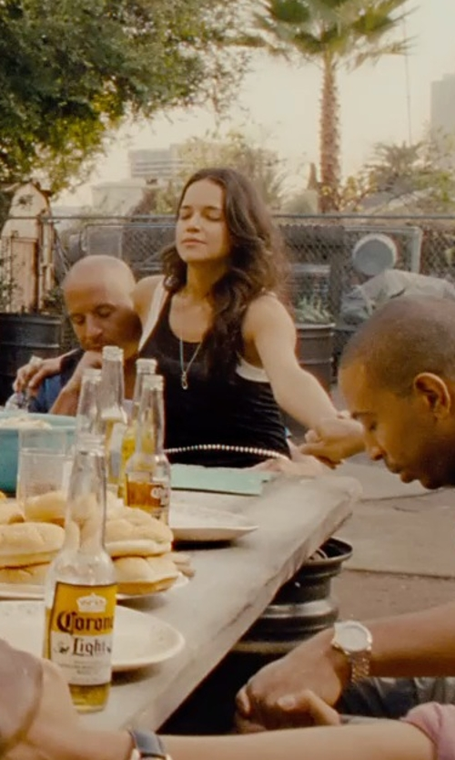 Michelle Rodriguez with Bailey 44 Women's Core Solid Tank Top in Furious 7