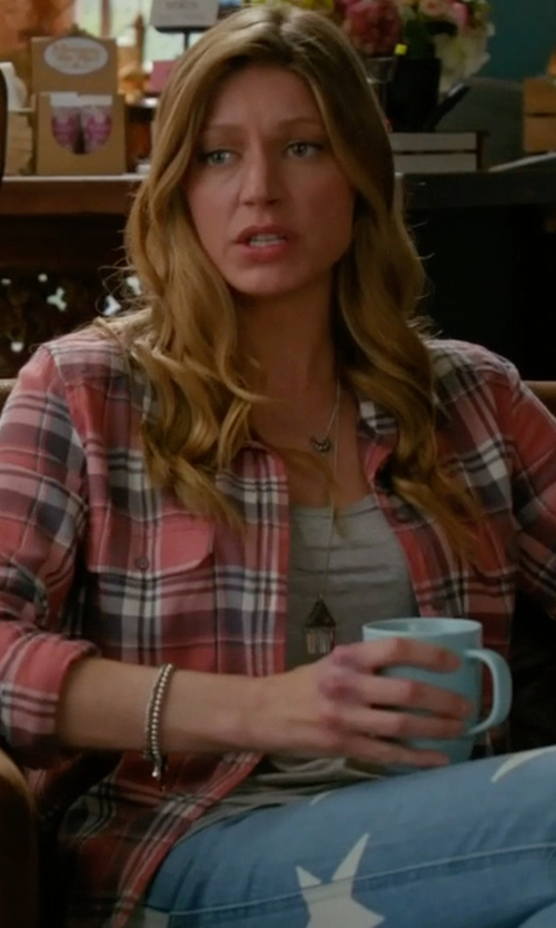 Jes Macallan with Stella McCartney Star-Print Skinny Jeans in Mistresses
