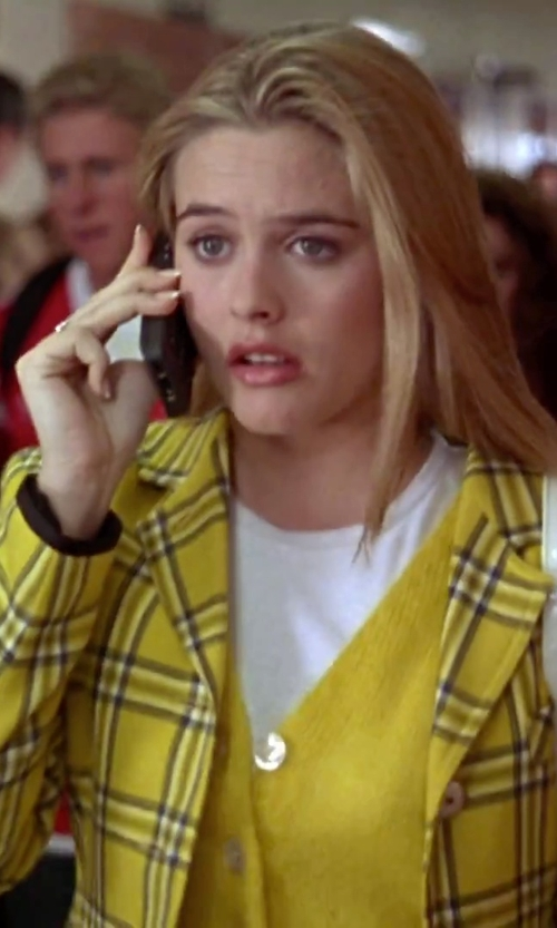 Alicia Silverstone with Higoo Old Vintage Retro Brick Cell Phone in Clueless
