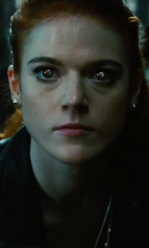 Rose Leslie with Eddie Borgo Pyramid Stud Earrings in The Last Witch Hunter