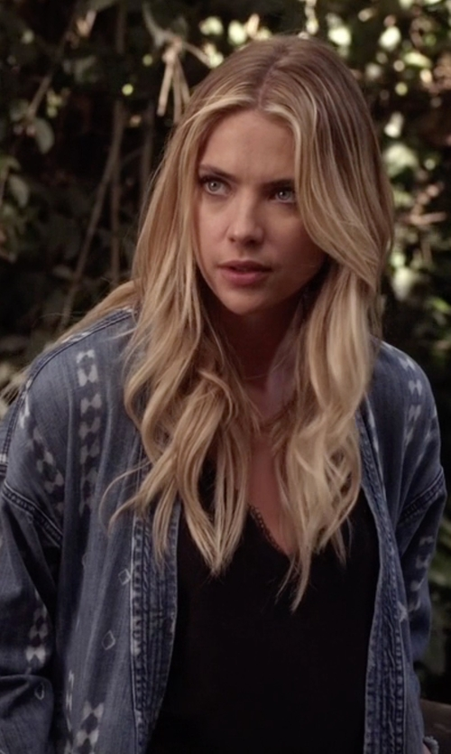 Ashley Benson with Current/Elliott The Kimono Jacket in Pretty Little Liars