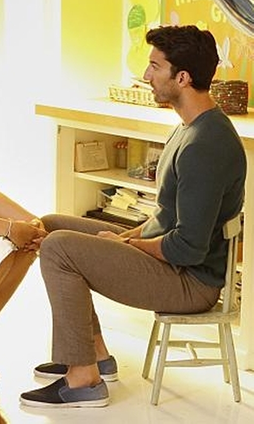 Justin Baldoni with Tod's Mix Media Slip-On Sneakers with Rubber Sole in Jane the Virgin