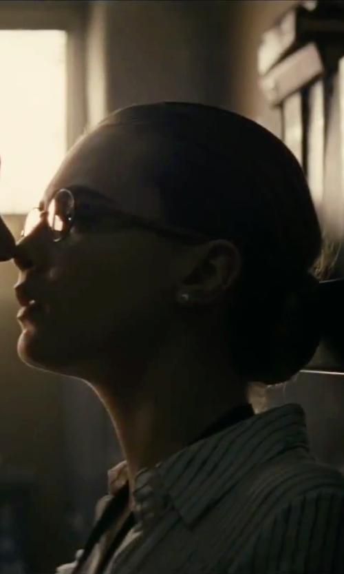 Cara Delevingne with A.J. Morgan Wayfarer Reading Glasses in Suicide Squad