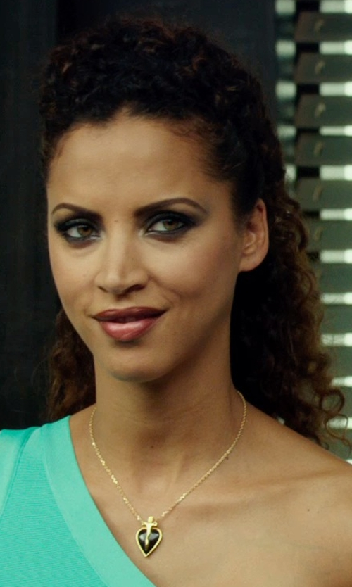 Noémie Lenoir with David Yurman Point Pendant Black Onyx Necklace in The Transporter: Refueled