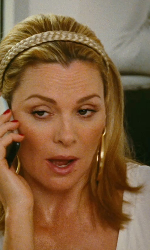 Kim Cattrall with SIS By Simone I Smith Extra Large Hoop Earrings in Sex and the City
