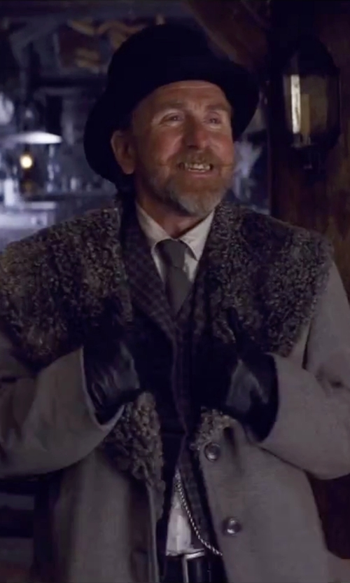 Tim Roth with Tod's Reversible Leather Belt in The Hateful Eight