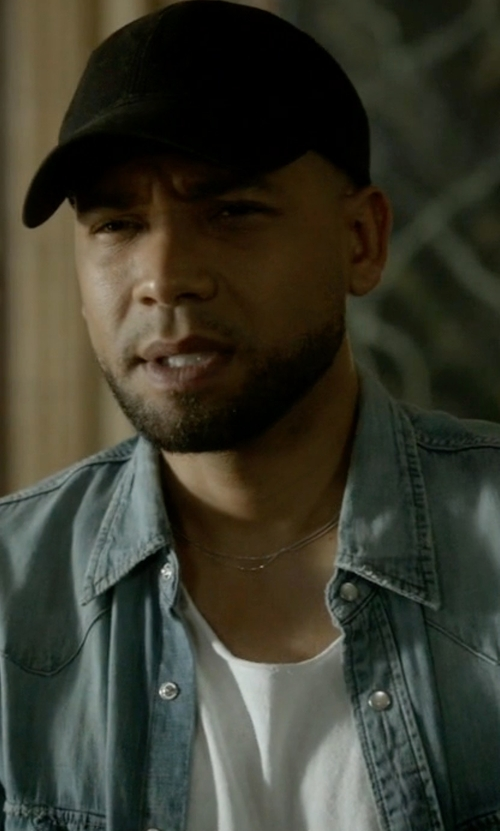 Jussie Smollett with Saint Laurent  Denim Western Shirt in Empire