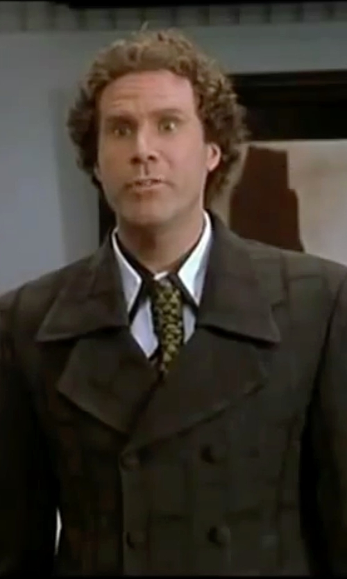 Will Ferrell with Emporio Armani Pointed Collar Shirt in Elf