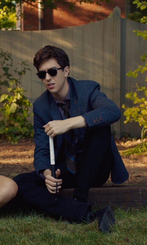 Nat Wolff with Ben Sherman Men's Blue Suit in The Fault In Our Stars