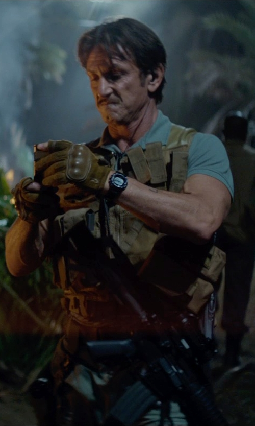 Sean Penn with Army Navy Shop Tactical Cross Draw Vest in The Gunman