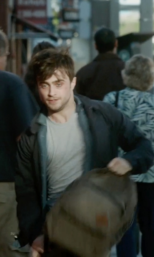 Daniel Radcliffe with Save Khaki Short Sleeve Crew Neck T-Shirt in What If