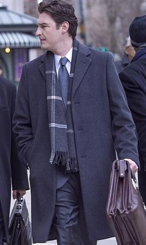 Toby Leonard Moore with Ted Baker Gains Wool Ombré Overcoat in Billions
