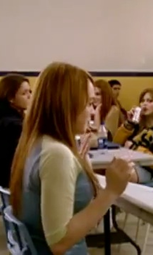 Lindsay Lohan with Progenex Women's Small Monogram Raglan Shirt in Mean Girls