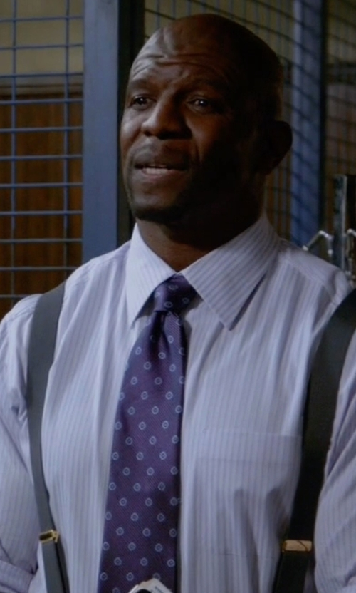 Terry Crews with Bigi Floral Medallion Jacquard Necktie in Brooklyn Nine-Nine