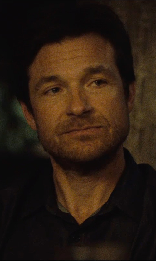 Jason Bateman with Armani Collezioni Jersey Button-Down Shirt in The Gift