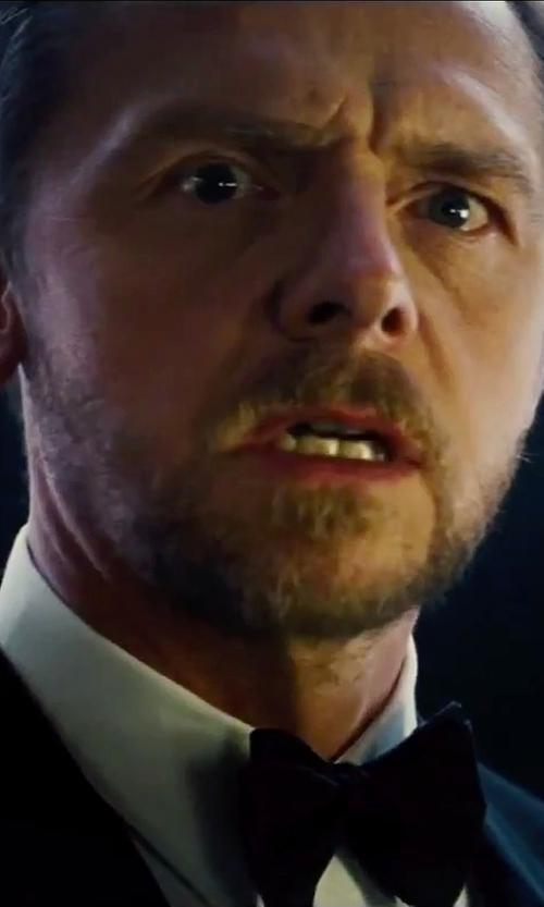 Simon Pegg with Armani Collezioni Silk Bow Tie in Mission: Impossible - Rogue Nation
