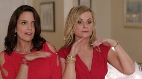 Amy Poehler with Fashion Ahead Bangle Bracelet Set in Sisters