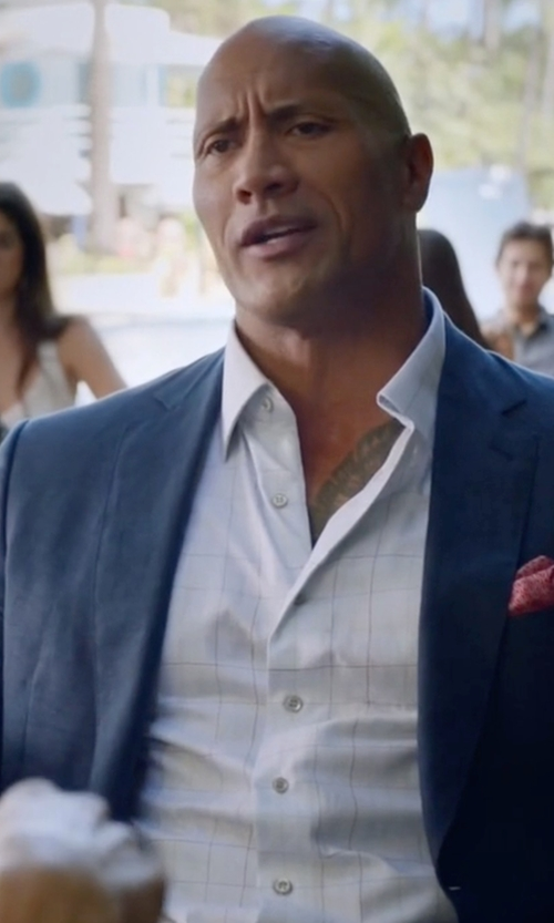 Dwayne Johnson with Tom Ford Peak-Lapel Half-Lined Sport Jacket in Ballers