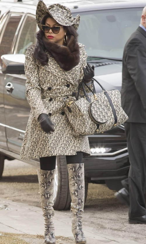 Taraji P. Henson with Le Snob Canvas Duffel Medium Bag in Empire