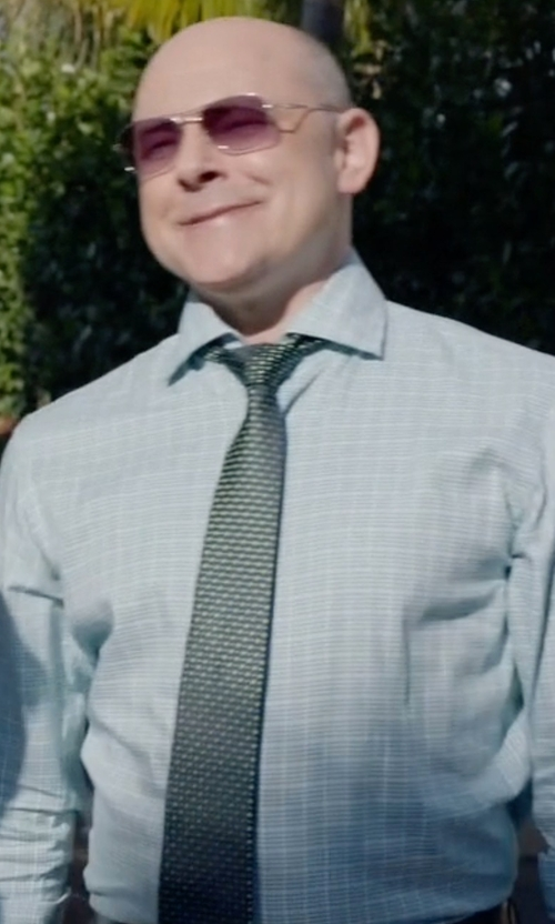 Rob Corddry with Michael Kors Chain Links Geo-Pattern Classic Tie in Ballers
