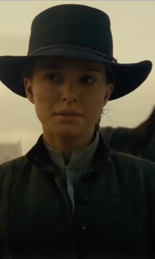 Natalie Portman with Emisphere Pleated Shirt in Jane Got A Gun