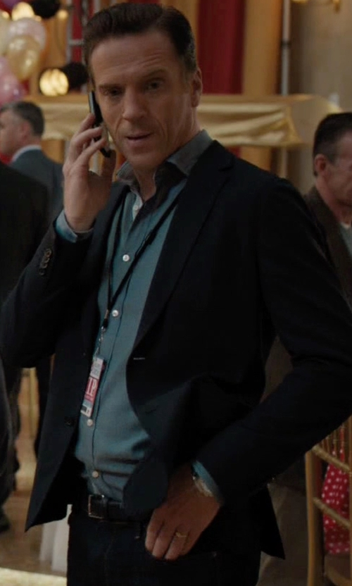 Damian Lewis with Sandro Slim Fit Notch Suiting Jacket in Billions