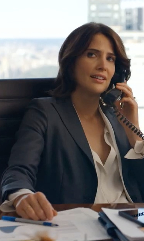 Cobie Smulders with Lacoste Milano Cotton Stretch Blazer in Friends From College