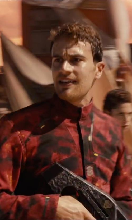 Theo James with Marlene Stewart (Costume Designer) Custom Made Jacket in The Divergent Series: Allegiant