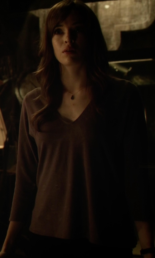 Danielle Panabaker with Pirelli Pzero V- Neck T-Shirt in The Flash
