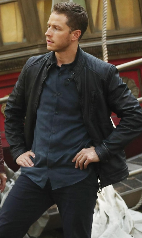 Josh Dallas with Belstaff H Racer Jacket in Once Upon a Time