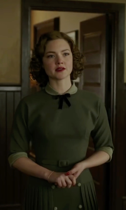 Holliday Grainger with Boohoo Robin Contrast Collar Dress in The Finest Hours
