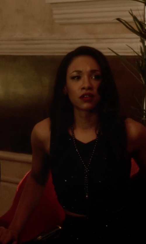 Candice Patton with Parker New York Hemlock Tank Top in The Flash