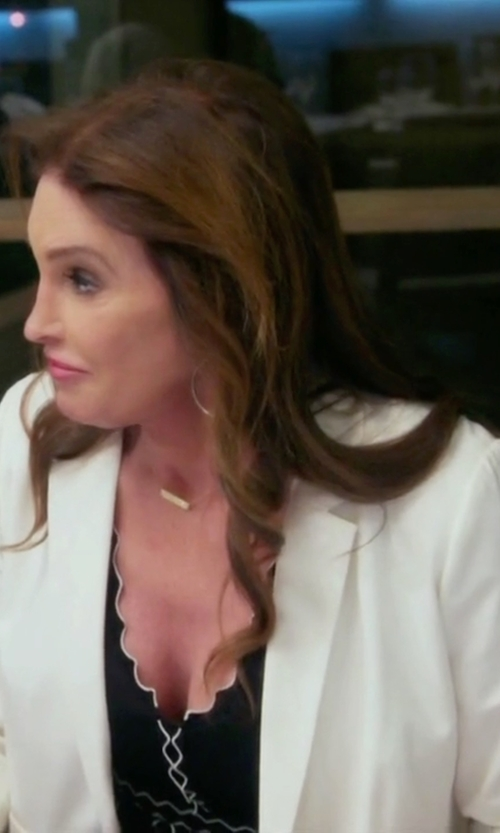 Caitlyn Jenner with Akris Punto Single Breasted Blazer in Keeping Up With The Kardashians