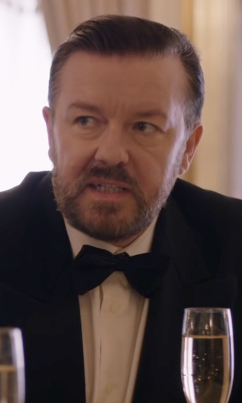 Ricky Gervais with Barneys New York  Silk Bow Tie in Special Correspondents