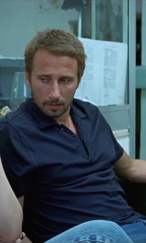 Matthias Schoenaerts with Rossopuro Short Sleeve Polo Shirt in A Bigger Splash