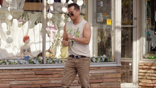 John Leguizamo with Guess Navy Leather and Braided Belt in Sisters