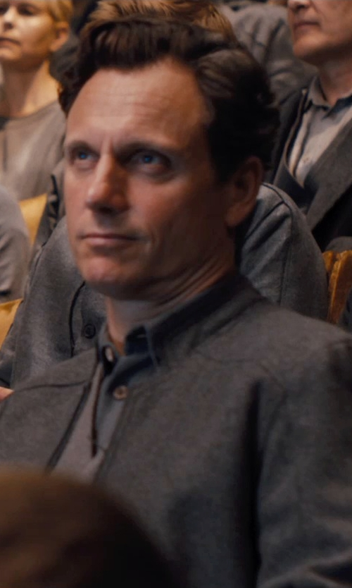 Tony Goldwyn with Carlo Poggioli (Costume Designer) Custom Made Andrew Prior Abnegation Coat in Divergent