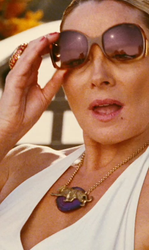 Kim Cattrall with Macy's Cognac Quartz Diamond Ring in Sex and the City
