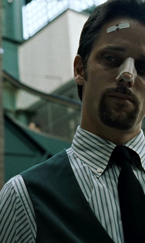 Chad Randau with Brooks Brothers Traditional Fit Stripe Dress Shirt in Fight Club
