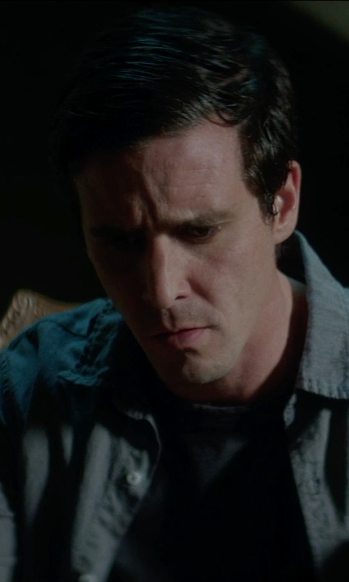 James Ransone with T by Alexander Wang Classic T-Shirt in Sinister 2