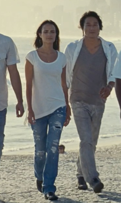 Jordana Brewster with Alexander Wang Kori Cutout-Heel Ankle Boots in Fast Five