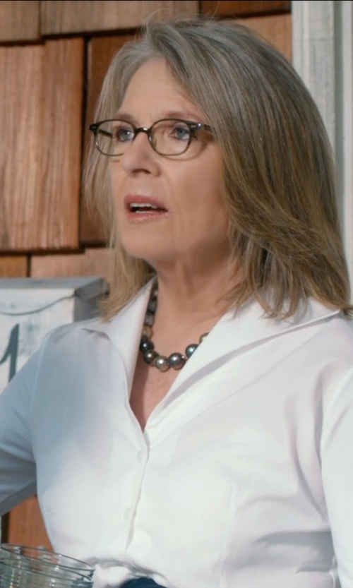 Diane Keaton with Simon Sebbag Stone Beaded Necklace in And So It Goes