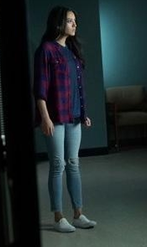 Shay Mitchell with Vans Classic Slip-On Sneakers in Pretty Little Liars