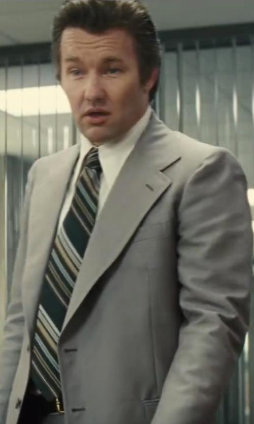 Joel Edgerton with Michael Kors 'Dudley' Stripe Silk Tie in Black Mass