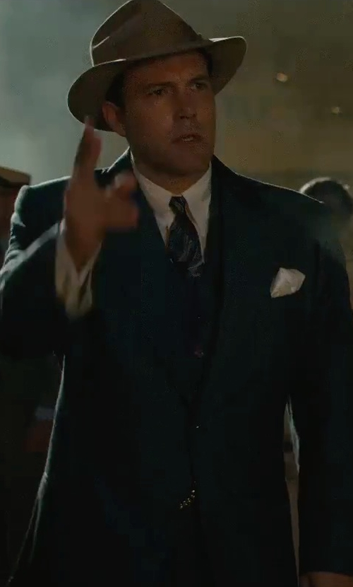 Ben Affleck with Z Zegna Tailored Fit Suit in Live By Night