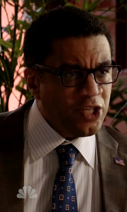 Harry Lennix with Ike Behar Two-Piece Plaid Suit in The Blacklist