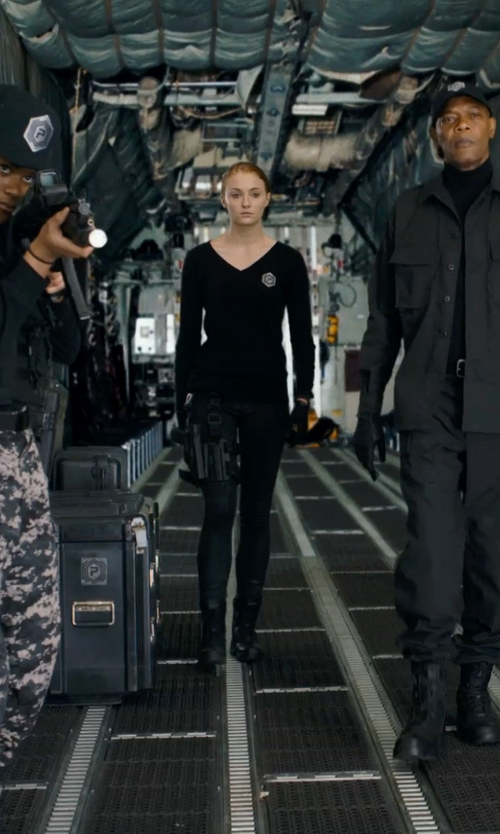 Sophie Turner with Francine Jamison-Tanchuck (Costume Designer) Custom Made Prescott Sweater Uniform (Heather) in Barely Lethal