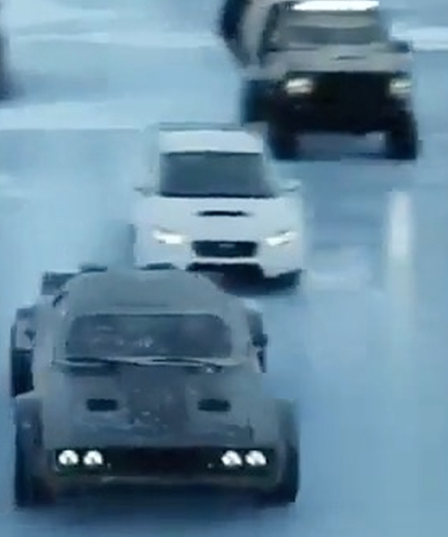 Unknown Actor with Subaru WRX STi Sedan in The Fate of the Furious