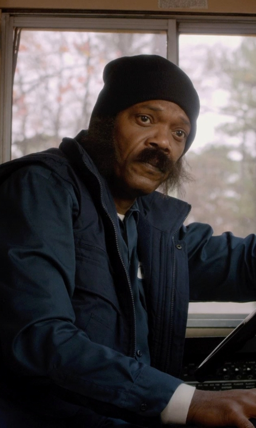 Samuel L. Jackson with Smith & Tweed Mercerized Merino Wool Vest in Barely Lethal